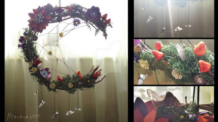 crescent moon wreath by mizueyes777