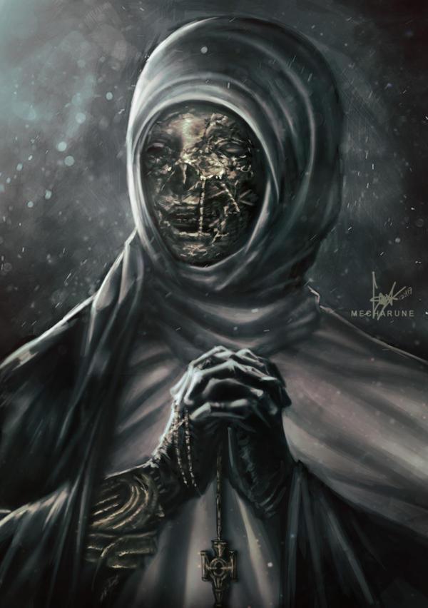 Nun Portrait by mecharune