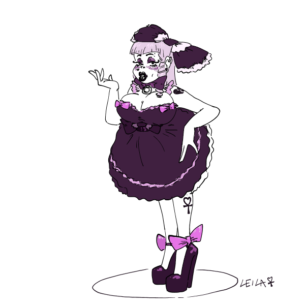 Special Silly Sissy: Goth by leila-stoat