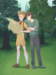 Boy scout Kylo and Hux by Graipefruit