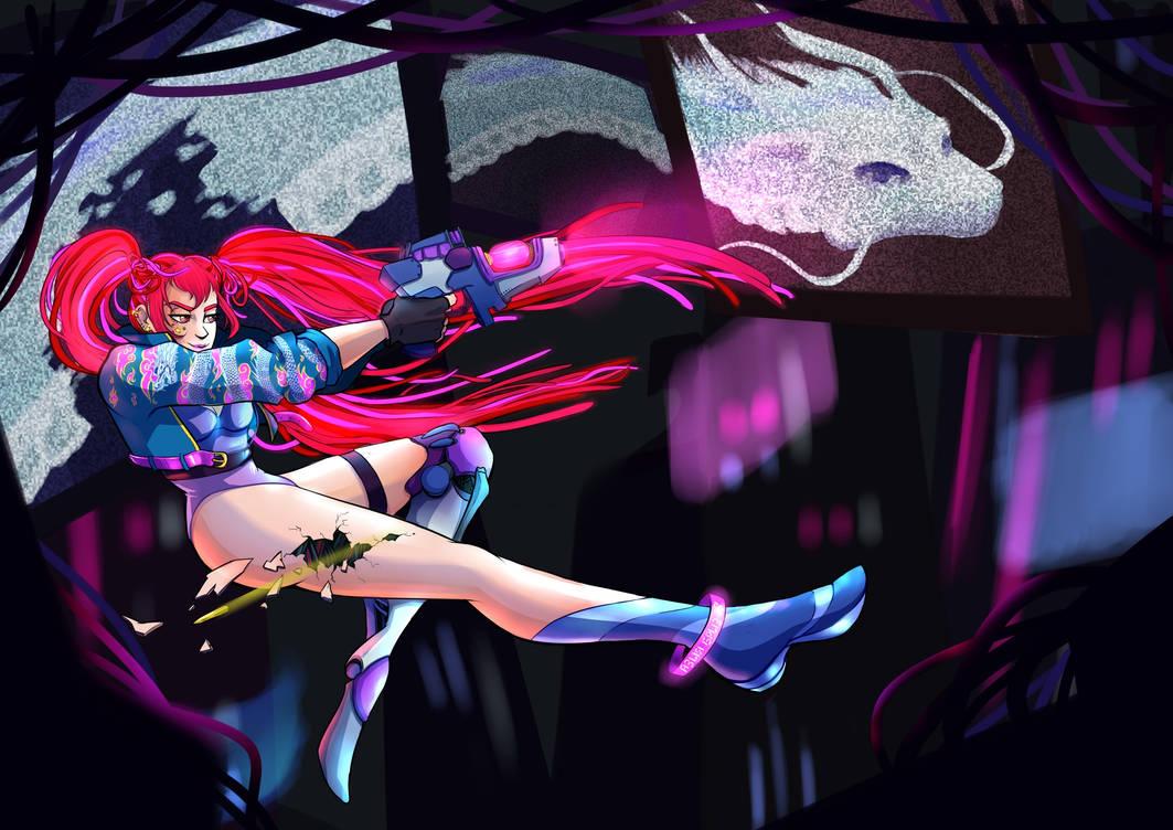 Cyberpunk girl by Graipefruit