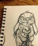Stitch and Thumper sketch