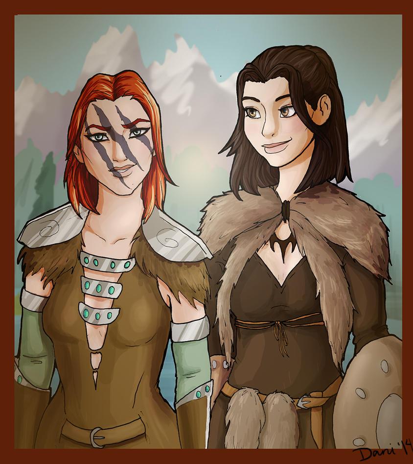 Svana and Aela by Sekhmet-Heart