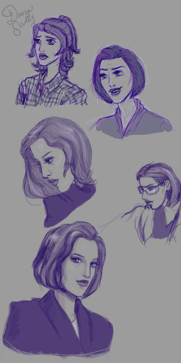 Scully Sketches! by Sekhmet-Heart