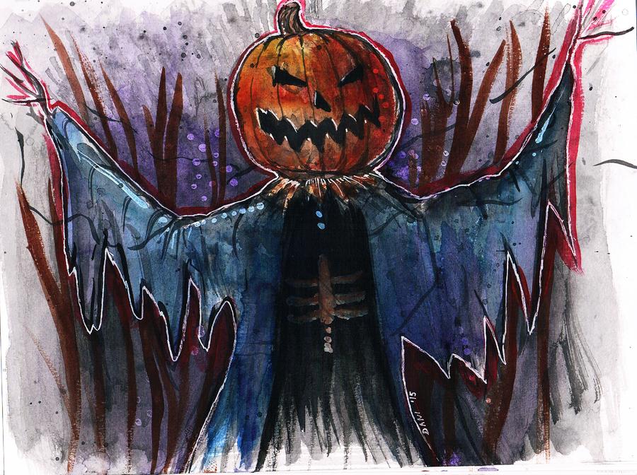 Pumpkin Scarecrow by Sekhmet-Heart