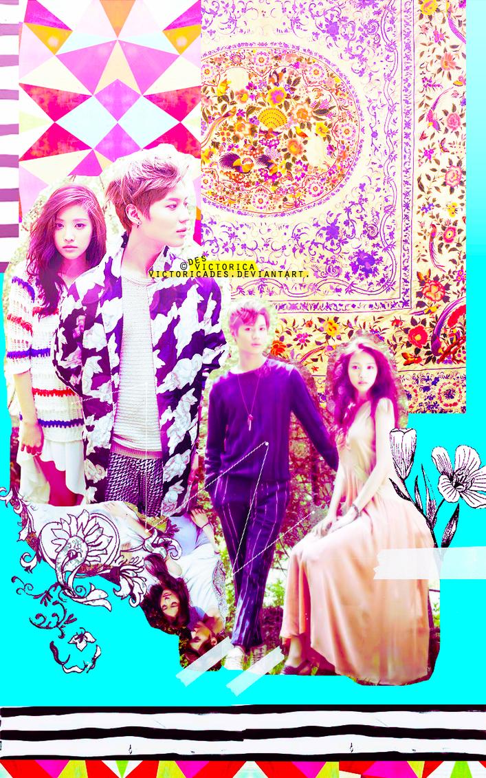 Taemin and naeun TAEUN wallpaper Mobile (1) by victoricaDES