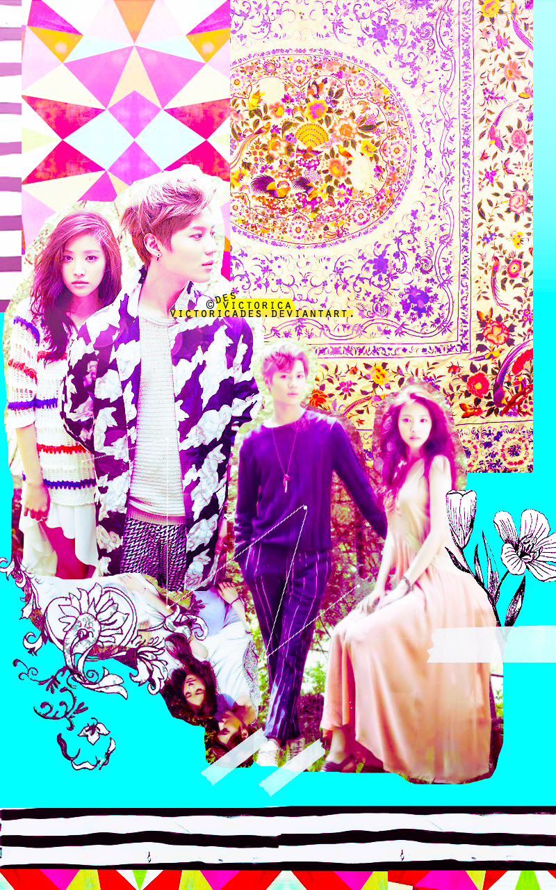 Taemin and naeun TAEUN wallpaper Mobile (1) by victoricaDES