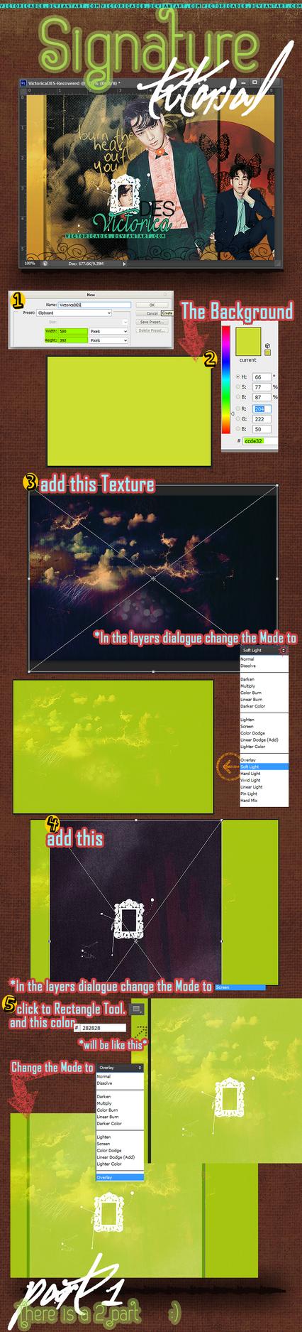 Signature Tutorial (Photoshop)-Part1 by victoricaDES