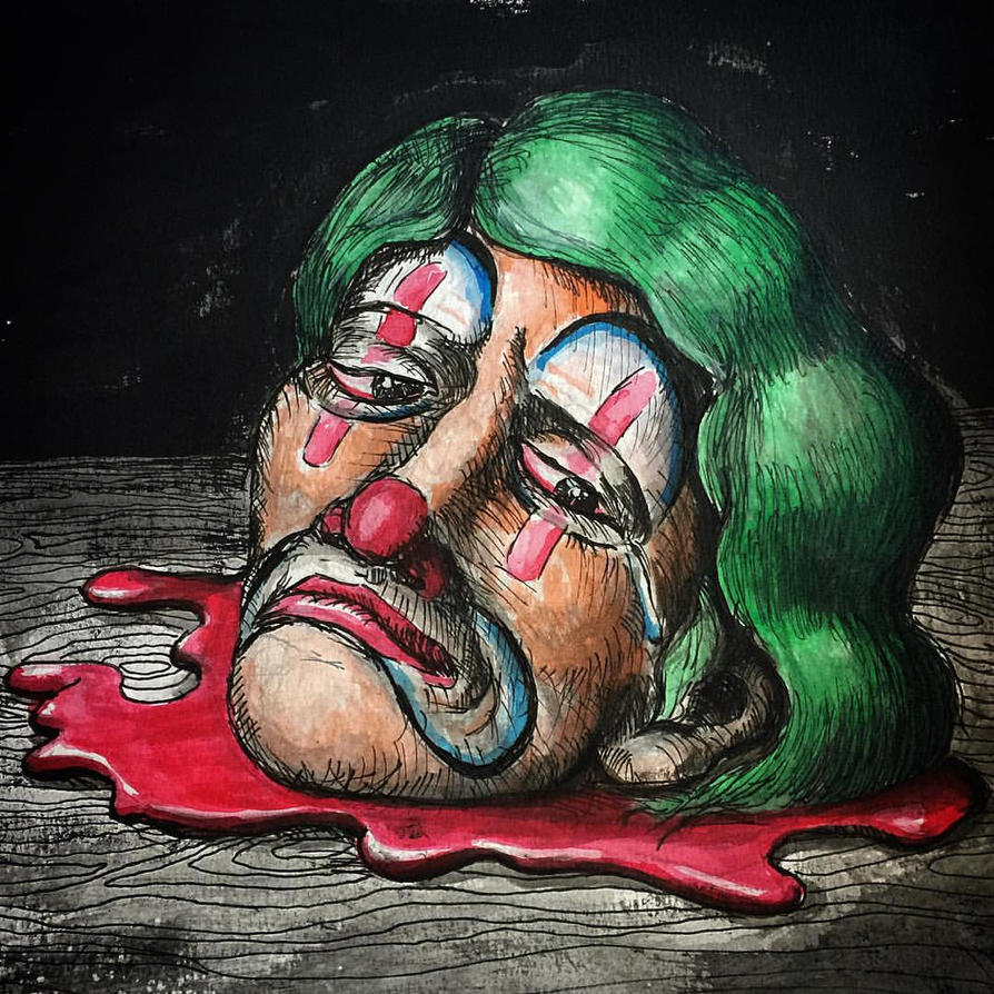 Decapitated clown2 by Dr-Benway