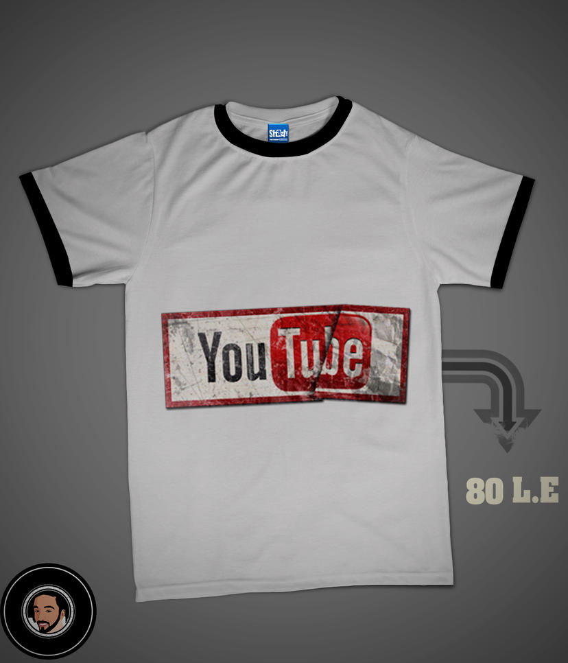 youtube t shirt d by shazly250 on deviantart. Black Bedroom Furniture Sets. Home Design Ideas