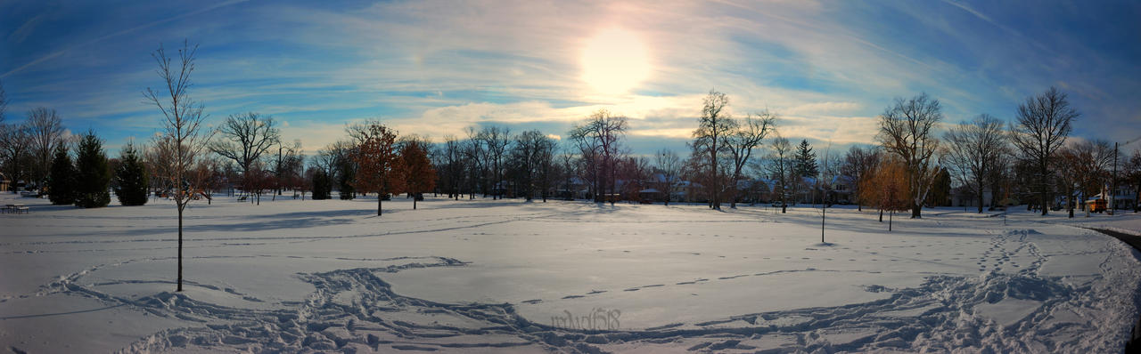 Lakeside Park in Snow by redwolf518