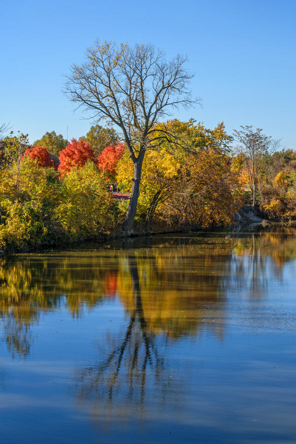 Autumn in Fort Wayne The River by redwolf518