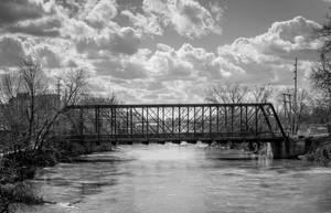 Fort Wayne Bridge in Monochrome by redwolf518