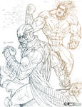 The Midnighter N Apollo sketch