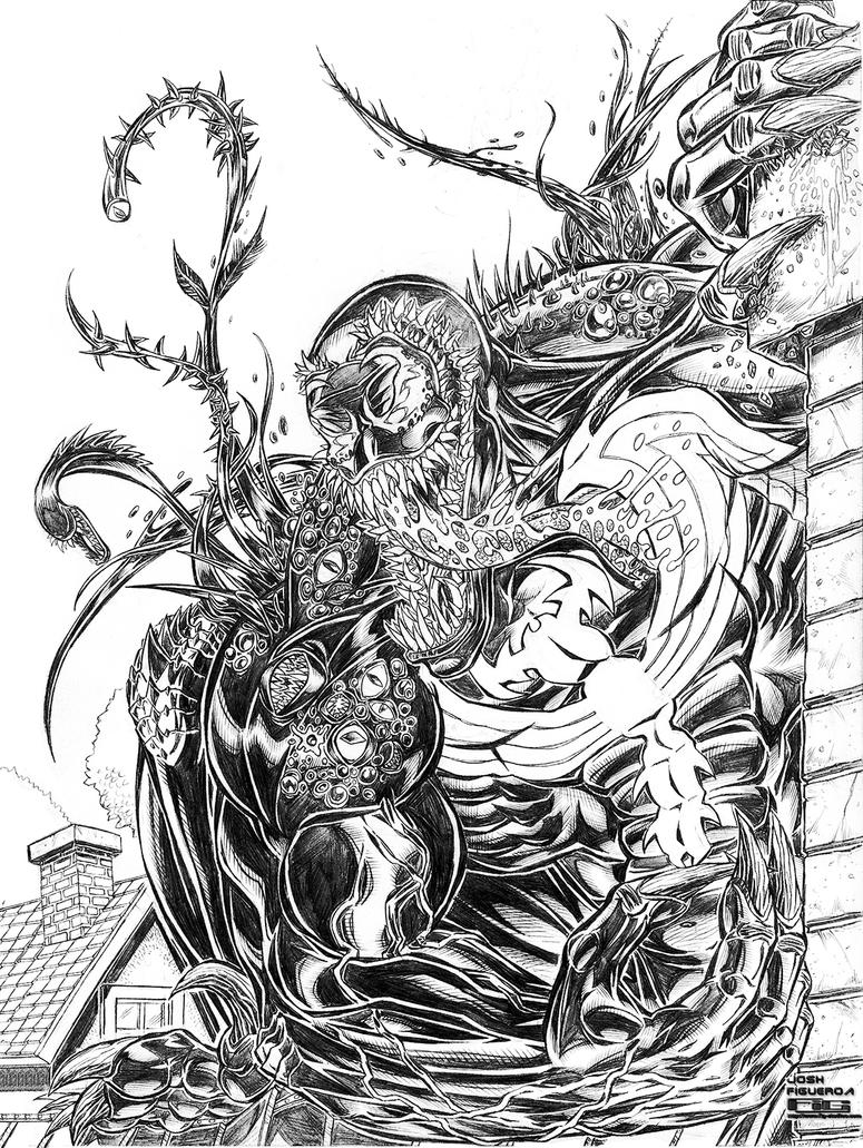 2014 SDCC Venom commission (pencil) by fig