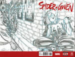2015 SDCC Spider-Gwen Sketch Cover commission