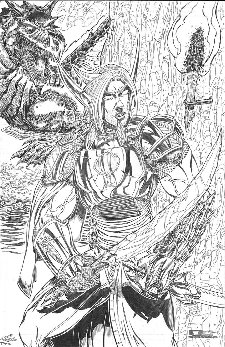 2015 SDCC Elf Warrior commission by fig