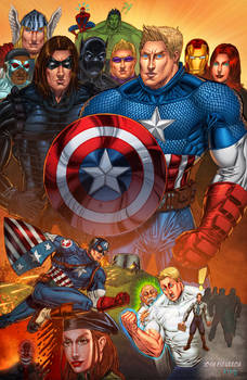 75 years of Cap - Pencils=me, Colors=King Bola