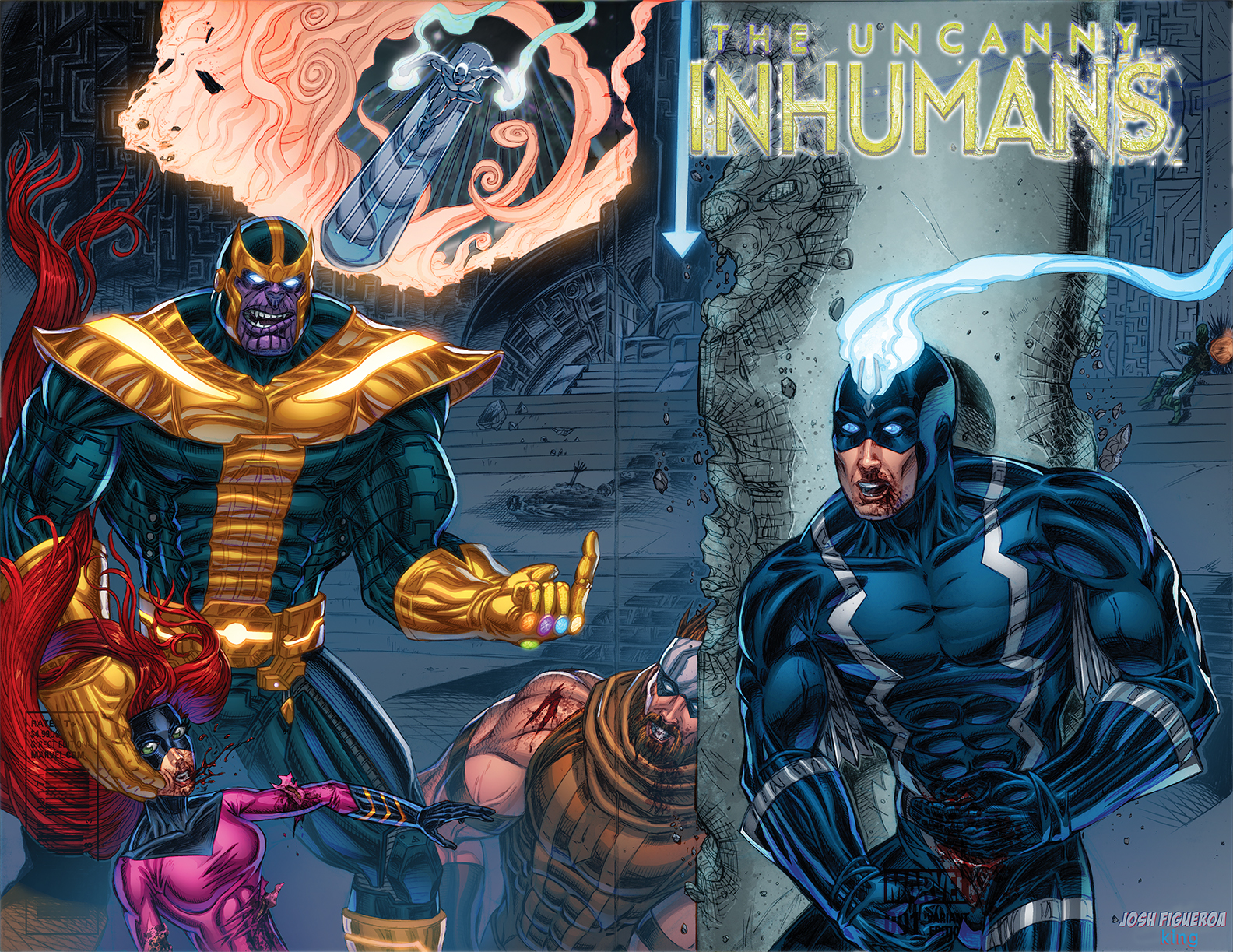 Inhumans Sketch Cover, colors by King Bola