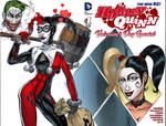 Harley Quinn Sketch Cover, colored by King Bola
