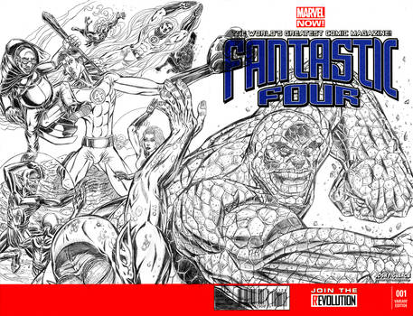 Fantastic Four Sketch Cover