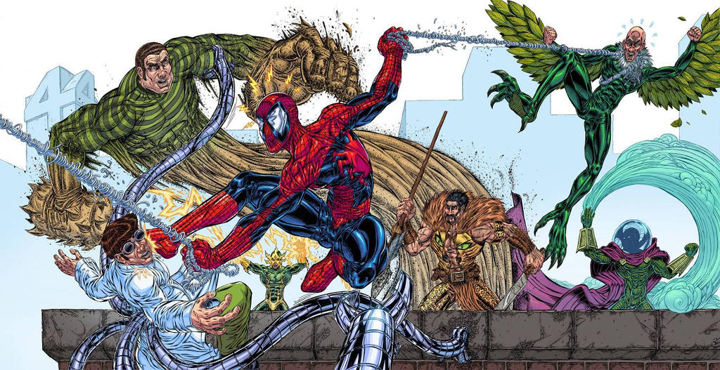 Spiderman vs the Sinister Six color 1.0