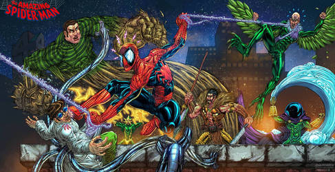 Spiderman vs the Sinister Six 3.0 by fig