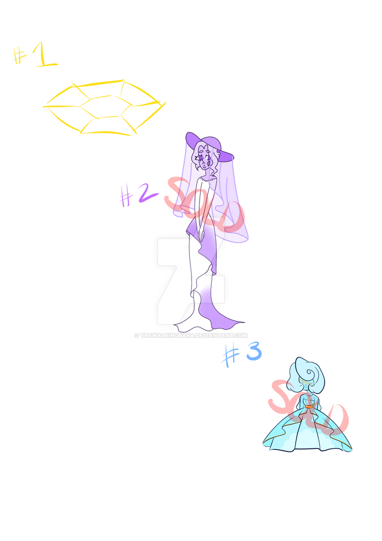Mystery Gem Adopts #2 [1/3] by TheWalkingBaka