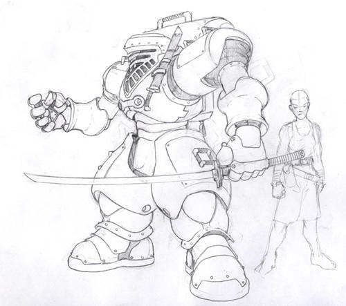 Original MK sketch. by Inkthinker