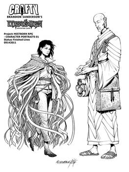 Mistborn Adventure Game - Vin and Sazed