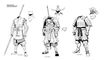 Iron Dynasty Armor I by Inkthinker