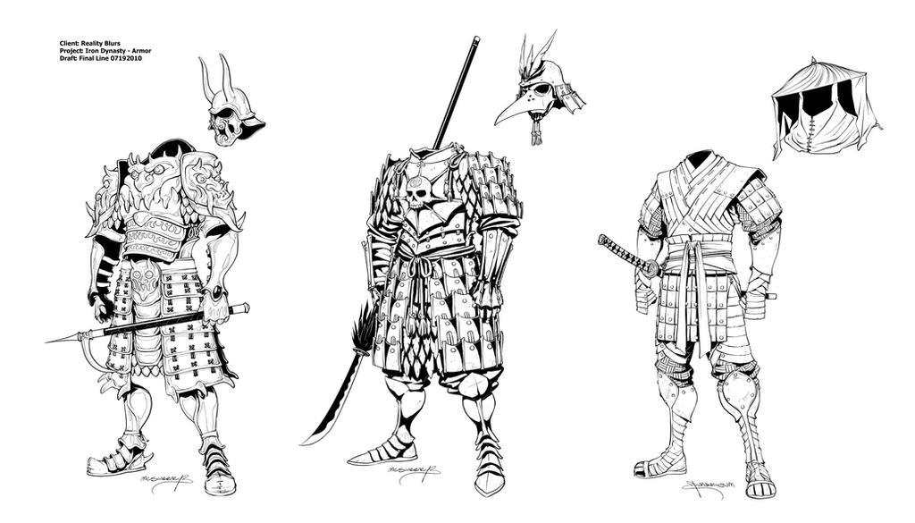 Как рисовать самурая в броне