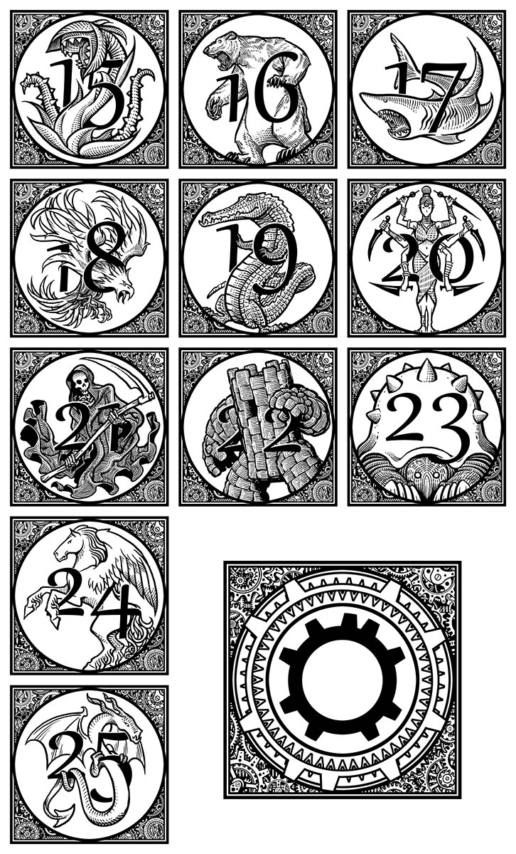The Rithmatist - Chapter Headings B by Inkthinker