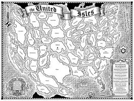 The Rithmatist - Isles Map by Inkthinker