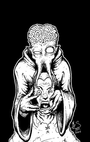OLD WORK - Mind Flayer by Inkthinker