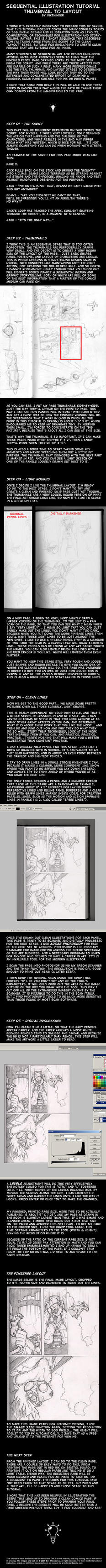 Comics - Thumbnail to Layout by Inkthinker