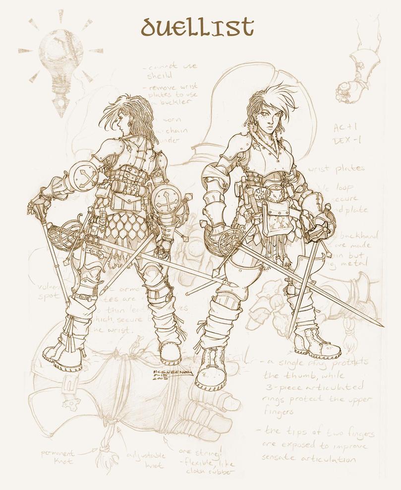 Dueling Armor by Inkthinker