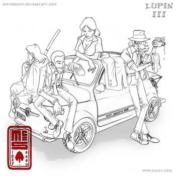 Lupin III - lines by Inkthinker