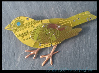 a little yellow bird - broach by thebluekraken