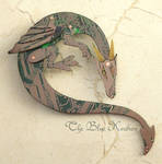 green dragon brooch