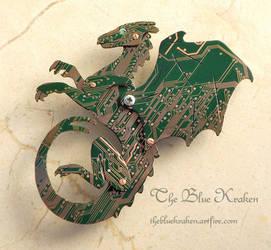 pern circuit board dragon by thebluekraken