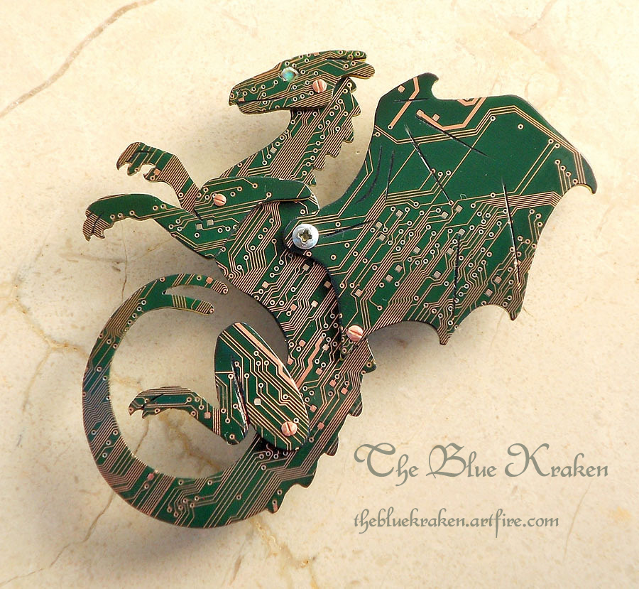 pern circuit board dragon by thebluekraken