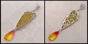 Lemon Drop celtic filigree pendant by thebluekraken