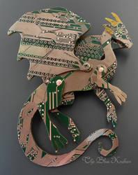 S green dragon brooch by thebluekraken