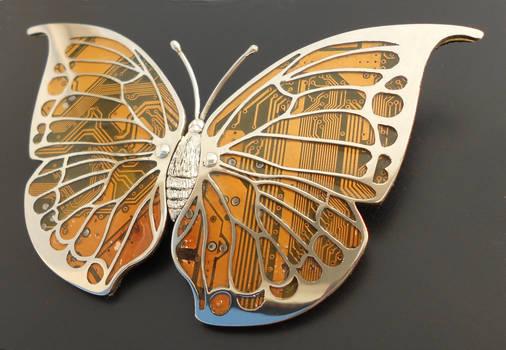 Leaf Wing Moth Brooch
