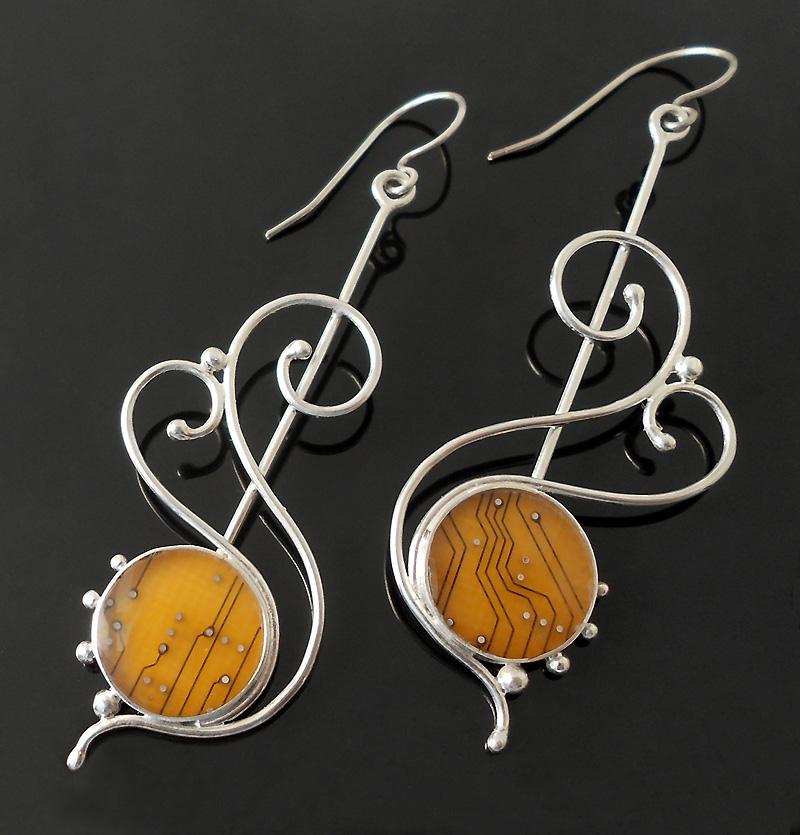 spirals earrings by thebluekraken