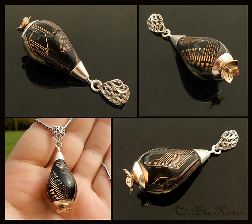black drop pendant by thebluekraken