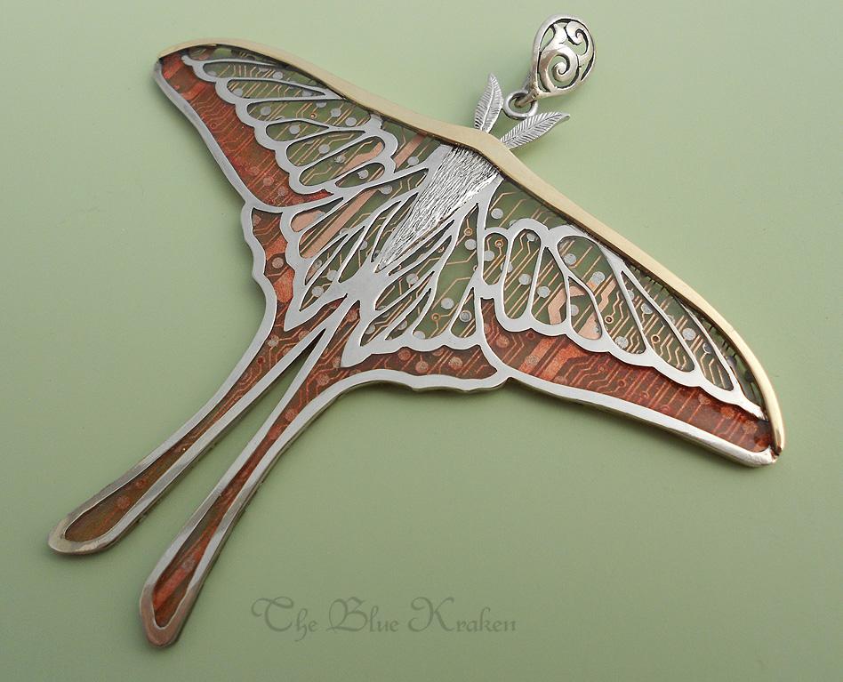 Hybrid Lunar Moth Pendant by thebluekraken