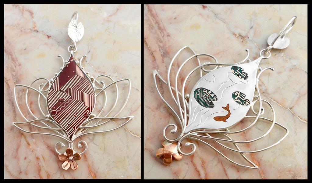 Lotus Flower and Pond by thebluekraken
