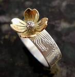 gold dogwood ring